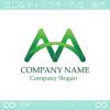 山,M文字,上昇,かけはしをイメージしたロゴマークデザインです。