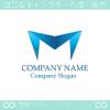 M文字,アルファベット,上昇,折り紙のロゴマークデザインです。
