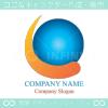 地球,回転,グローバル,ビジネスのロゴマークデザインです。