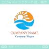 太陽,海,波,自然をイメージしたロゴマークデザインです。