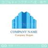 高層ビル,オフィス,都市,ビジネスのロゴマークデザインです。