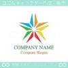 星,虹,カラフル,喜びをイメージしたロゴマークデザインです。