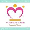 王冠,ハート,クラウン,女帝,クイーンのロゴマークデザインです。