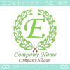 E文字,リーフ,一流,最高,アルファベットのロゴマークデザイン