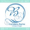 文字B,波,豪華,太陽,青のロゴマークデザインです。