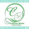 C文字,緑,太陽,波,豪華をイメージしたロゴマークデザインです。