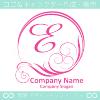 文字E,太陽,波,ピンク,豪華をイメージしたロゴマークデザインです。