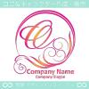 O文字,波,豪華,太陽,ピンクイメージしたロゴマークデザインです。