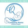 文字Q,太陽,波,青,豪華をイメージしたロゴマークデザインです。