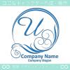 文字U,太陽,波,青,豪華をイメージしたロゴマークデザインです。