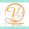 V文字,波,豪華,勝利,太陽,をイメージしたロゴマークデザイン