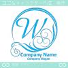 W文字,太陽,波,青,豪華をイメージしたロゴマークデザインです。