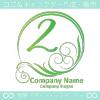 数字2,波,太陽,ゴージャスをイメージしたロゴマークデザインです。