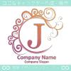 J文字,エレガント,波,月なロゴマークデザインです。