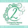 2,数字,エレガント,緑,波,ムーンのロゴマークデザインです。