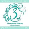 3周年記念,波,ムーン,祝い,エレガントなロゴマークデザインです。