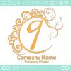 9,数字,エレガント,黄色,波,ムーンなロゴマークデザインです。