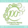 100周年記念,祝い,エレガント,波,ムーンなロゴマークデザイン