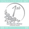 1周年記念,バラ,花,フラワー,月,綺麗なロゴマークデザインです。