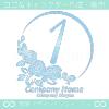 ナンバー1,バラ,花,フラワー,月,綺麗なロゴマークデザインです。