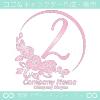 ナンバー2,バラ,花,フラワー,月,綺麗なロゴマークデザインです。