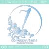 7,ナンバー,バラ,花,フラワー,月,綺麗なロゴマークデザイン