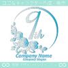 9周年記念,バラ,花,フラワー,月,綺麗なロゴマークデザインです。