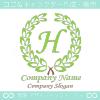 H文字,クラシック,緑,最高クラス,一流のロゴマークデザインです。