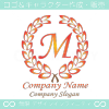 M文字,上品,最高クラス,赤,クラシックなロゴマークデザインです。