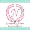 N文字,クラシック,ピンク,最高クラス,一流のロゴマークデザイン