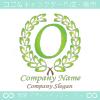 文字O,上品,緑,最高クラス,クラシックなロゴマークデザインです。