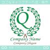文字Q,上品,最高クラス,緑,クラシックなロゴマークデザインです。
