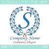 S文字,上品,最高クラス,青,クラシックなロゴマークデザインです。