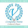 V文字,クラシック,最高クラス,青,一流のロゴマークデザインです。