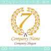 数字7,ナンバー,クラシック,リーフ,翼のロゴマークデザインです。