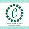 C文字,ラッキー,四葉のクローバー,幸運,リースのロゴマークデザイン