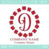 D文字,四葉のクローバー,幸運,リース,ラッキーのロゴマークデザイン