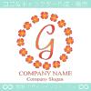 G文字,四葉のクローバー,幸運,リース,ラッキーのロゴマークデザイン