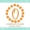 O文字,幸運,四葉のクローバー,ラッキー,リースのロゴマークデザイン