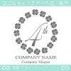4周年記念,四葉のクローバー,リース,幸運のロゴマークデザイン