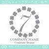 数字7,四葉のクローバー,幸運,リース,可愛いのロゴマークデザイン