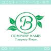 B文字,リーフ,葉,リースのイメージのロゴマークデザイン