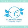 文字C,リーフ,リース,葉のイメージのロゴマークデザインです。