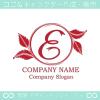 文字E,リーフ,リース,葉のイメージのロゴマークデザインです。