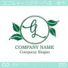 文字G,リーフ,葉,リースのイメージのロゴマークデザインです。