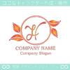 文字H,リーフ,リース,葉のイメージのロゴマークデザイン
