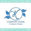 文字K,リーフ,葉,リースのイメージのロゴマークデザインです。