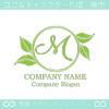 M文字,リーフ,葉,リースのイメージのロゴマークデザイン