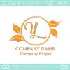 文字Y,リーフ,リース,葉のイメージのロゴマークデザイン