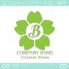 文字B,さくら,フラワー,桜,花をモチーフのロゴマークデザインです。